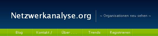 Blogvorschau Netzwerkanalyse.org - Organisationen neu sehen